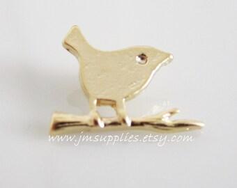 Matte Gold Bird Pendant