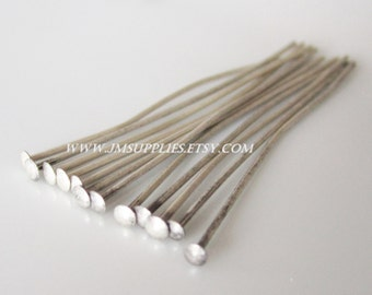 1-1/2 Inch, 22 Gauge Headpin, Antiqued Silver