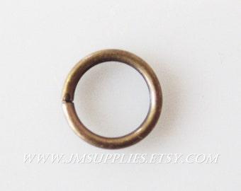 6mm, 20 Gauge Jumpring, Antique Gold Round