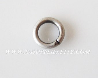 5mm Round 18 Gauge Jumpring, Antiqued Silver