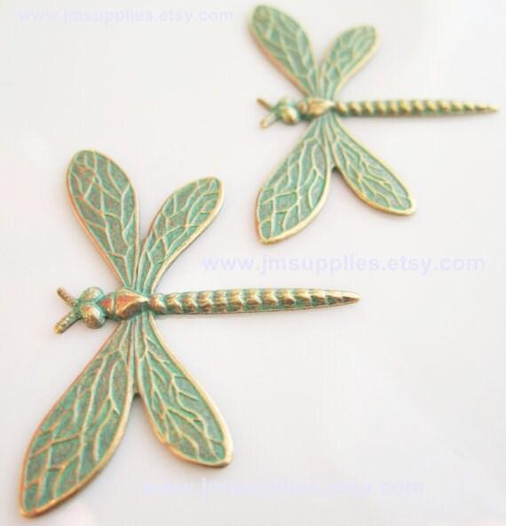 Patina Dragonfly Pendant