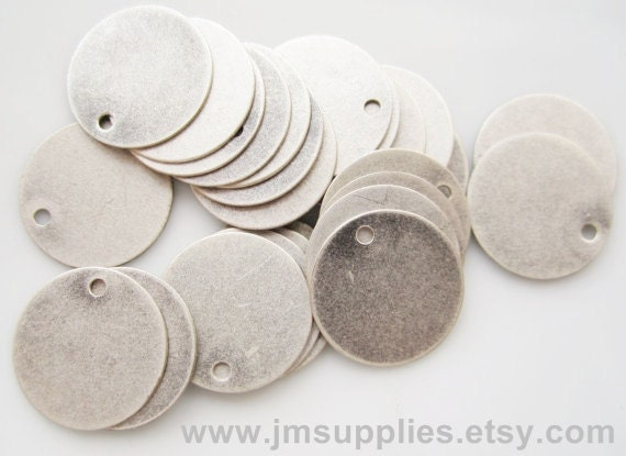Drop Antique Silver Coin 15mm