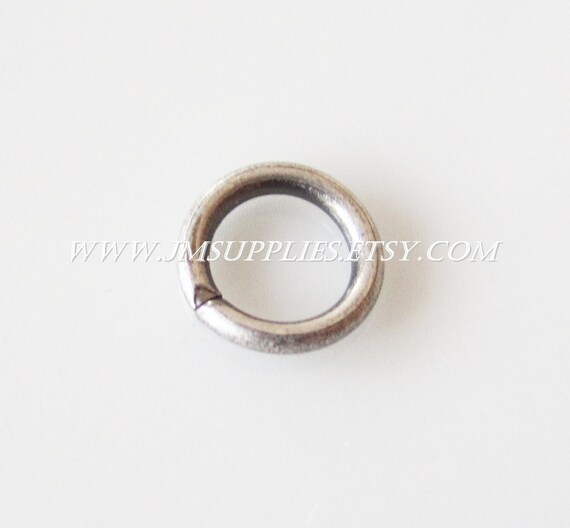 6mm, 18 Gauge Jumpring, Antiqued Silver Round