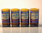 YAVA Glass - Upcycled Dads Root Beer Bottle Glasses (Set of 4)