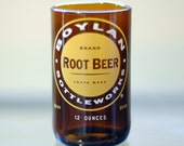 YAVA Glass - FREE SHIPPING - Recycled Boylan's Root Beer Soda Bottle Glass