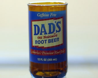 YAVA Glass - Upcycled Dad's Root Beer Soda Bottle Glass