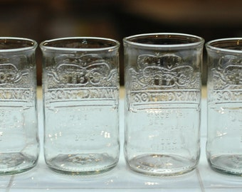 YAVA Glass - Upcycled IBC Cream Soda Bottle Glasses (Set of 4)