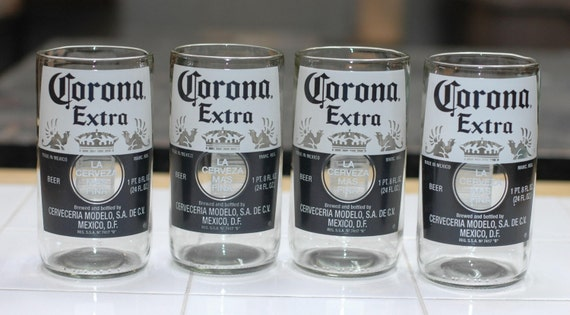 Yava glass large corona extra 18 fl oz beer bottle glasses for How to make corona glasses