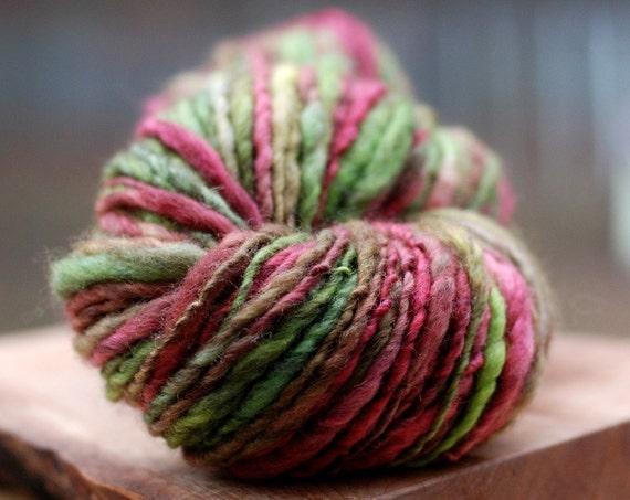 Dark Figment - 136 yards BFL handspun yarn
