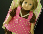 carrier for AG doll NOW with adjustable back straps and pockets (fabric may differ)
