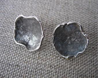Sterling Silver Nest Earrings Posts