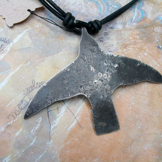 Humming Bird Necklace - Homage to Frida Kahlo- Sterling Silver
