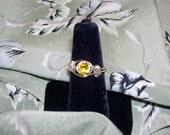 Golden Topaz Birthstone Ring