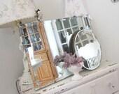 Vintage Beveled Mirror - Shabby Chic French Cottage Farmhouse