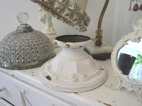 Vintage Ceiling Light Fixture Shabby Cottage Farmhouse