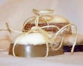 Honey Almond and Orange Peel Pure Glycerin Soap-Light Orange Yellow