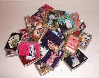 Celebrity Matchbox Art - Set of 10 - Matches Included