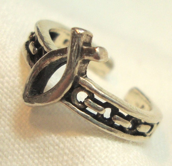 Vintage Fish Ring Sterling Silver Christian Symbol 925