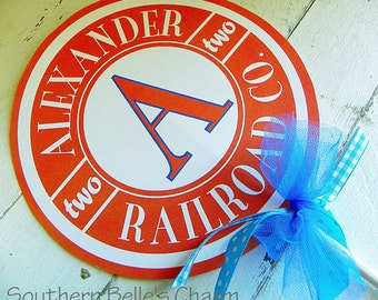 Train Centerpiece Sign...Set of 1 Personalized Sign