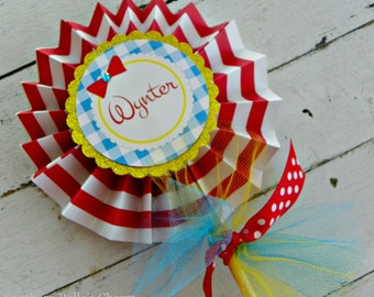 Wizard of Oz Centerpiece Pinwheel...Set of 1 Red Bow Pinwheel