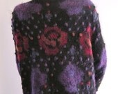 Vintage Patricia Roberts Mohair Sweater with Roses and Bobbles from Basia Designs private Collection