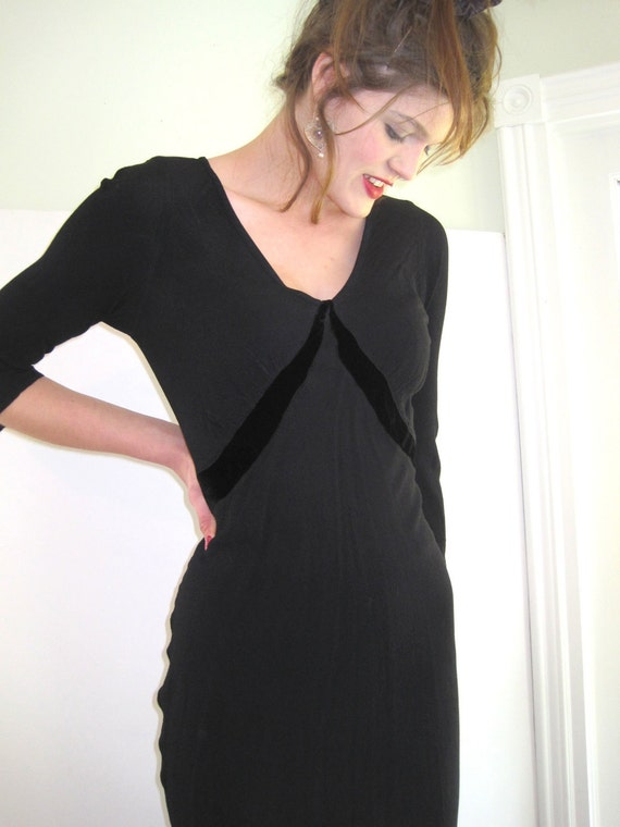 Vintage GHOST Black Dress from Basia's Private Collection