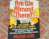 vintage CAR GAMES book for the whole family. car travel games. kids games