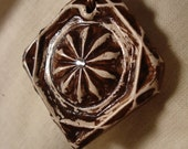 Rustic Tile Necklace - BROWN