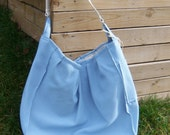 SALE inventory reduction. HUGE blue canvas bag great for the beach or overnight at grandmas. Great gift for new baby, bridesmaid, Christmas