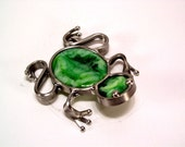 Stained glass frog - Green Fused