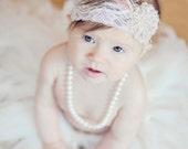 Vintage pink & light mocha headband