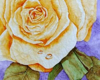 rose watercolor painting . . .