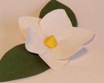 magnolia paper flower for embellishments . . .