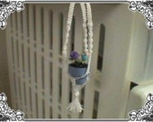 Pattern for Dollhouse Miniature Plant Hanger.. Macrame PDF Format