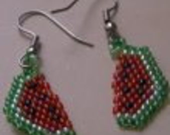 Watermelon Earring Pattern PDF