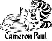 Bookworm - Mark Your Library Books - Personalized Rubber Stamp