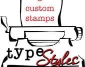 RESERVED for Kristan van Marcke - 3 Custom Initial Return Address Rubber Stamp