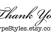 Thank You & shop link... Custom Rubber Stamp