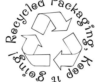 Recycled Packaging ... Custom Rubber Stamp