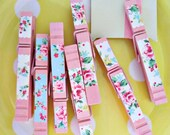 sweet rosey mix clothespins