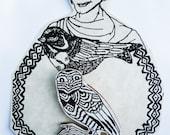 Handmade Owl Brooch (D)