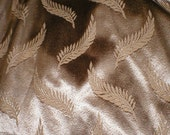 Vintage 20s 30s 40s art deco two Panel Satin Damask Fern Pattern Curtains draperies