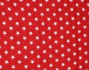 2 1/4 yards 57 wide Vintage 80s rayon star print dressmaking or quilting fabric