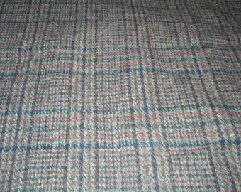 6 Yards 58 Wide Vintage 60s Plaid  Wool Coat  Fabric