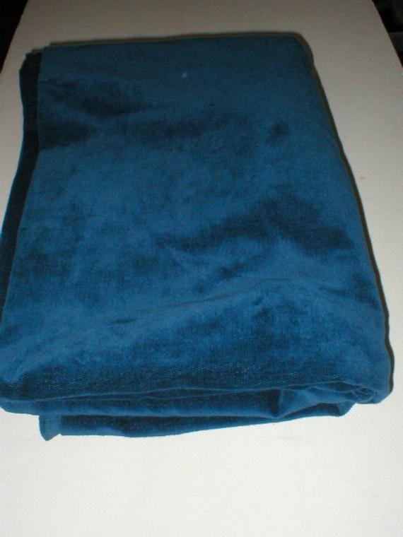 1 7/8 yards 44 wide Vintage teal blue brushed Cotton Corduroy Fabric