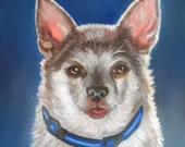 PET PORTRAIT 8 x 10 custom original oil on stretched canvas