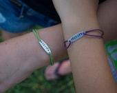 BESTIES Matching Metal Stamped Bracelets