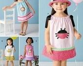 SALE! DRESS PATTERN / Make Girls Pillowcase Dress / Sizes 1/2 to 4 / Summer Clothes