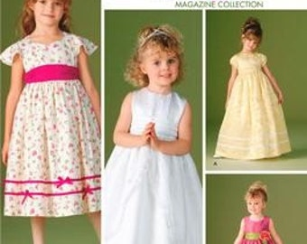 FLOWER GIRL PATTERN / Fancy Dresses for Little Girls In sizes 3 to 6
