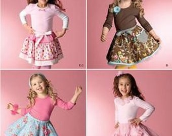 GIRL CLOTHES PATTERN / Boutique Style / Skirt With Slips and Hair Accessories